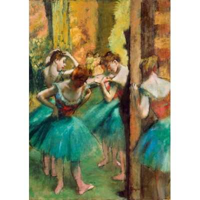 Puzzle  Art-by-Bluebird-60047 Degas - Dancers, Pink and Green, 1890