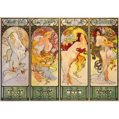 Puzzle  Art-by-Bluebird-60056 Mucha - Four Seasons, 1900