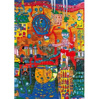 Puzzle  Art-by-Bluebird-60064 Hundertwasser - The 30 Days Fax Painting, 1996