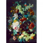 Puzzle  Art-by-Bluebird-60072 Jan Van Huysum - Still Life with Flowers and Fruit, 1715