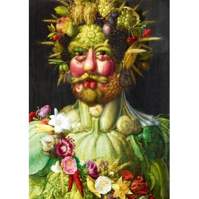Puzzle  Art-by-Bluebird-60074 Arcimboldo - Rudolf II of Habsburg as Vertumnus, 1590