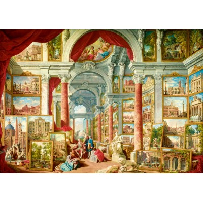 Puzzle  Art-by-Bluebird-60075 Panini - Picture Gallery with Views of Modern Rome, 1757