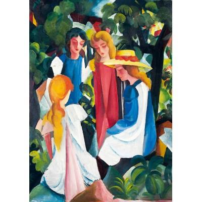 Puzzle  Art-by-Bluebird-60082 August Macke - Four Girls, 1913
