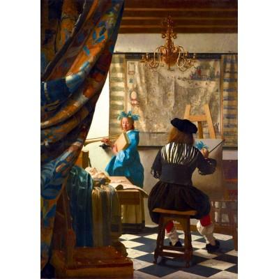 Puzzle  Art-by-Bluebird-60083 Johannes Vermeer - Art of Painting, 1668