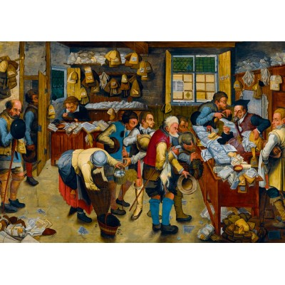 Puzzle  Art-by-Bluebird-60085 Pieter Brueghel the Younger - The Tax-collector's Office, 1615