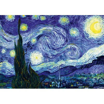 Puzzle  Art-by-Bluebird-Puzzle-60001 Vincent Van Gogh - The Starry Night, 1889
