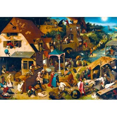 Puzzle Art-by-Bluebird-Puzzle-60028 Pieter Bruegel the Elder - Netherlandish Proverbs, 1559