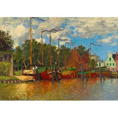 Puzzle  Art-by-Bluebird-Puzzle-60031 Claude Monet - Boats at Zaandam, 1871