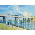 Puzzle  Art-by-Bluebird-Puzzle-60038 Claude Monet -Railway Bridge at Argenteuil, 1873