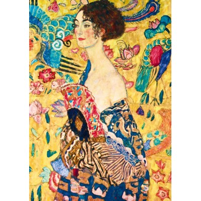 Puzzle  Art-by-Bluebird-Puzzle-60095 Gustave Klimt - Lady with Fan, 1918