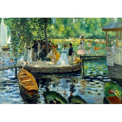 Puzzle  Art-by-Bluebird-Puzzle-60100 Renoir - La Grenouillère, 1869