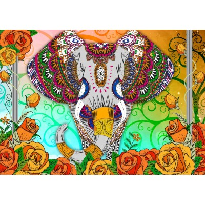 Puzzle Bluebird-Puzzle-70002 Colorful Elephant