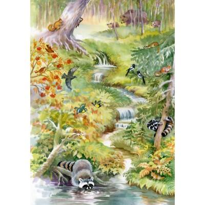 Puzzle Bluebird-Puzzle-70025 Forest Animals