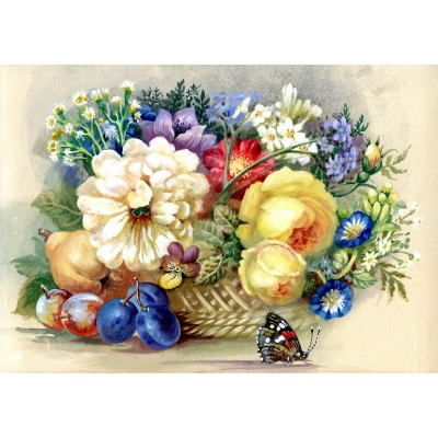 Puzzle  Bluebird-Puzzle-70026 Autumn Bouquet