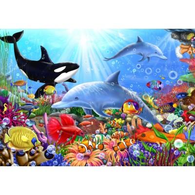 Puzzle Bluebird-Puzzle-70028 Bright Undersea World