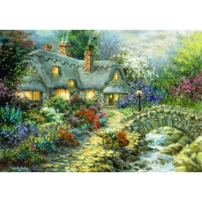Puzzle  Bluebird-Puzzle-70064 Country Cottage
