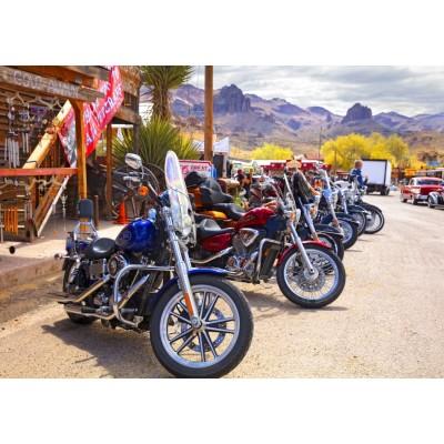 Puzzle  Bluebird-Puzzle-70067 Rt 66 Fun Run Oatman Motorcycles 4-16 8377