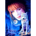 Puzzle  Bluebird-Puzzle-70133 Wolf Girl