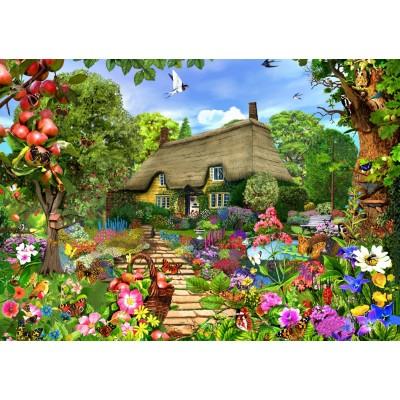 Puzzle  Bluebird-Puzzle-70141 English Cottage Garden