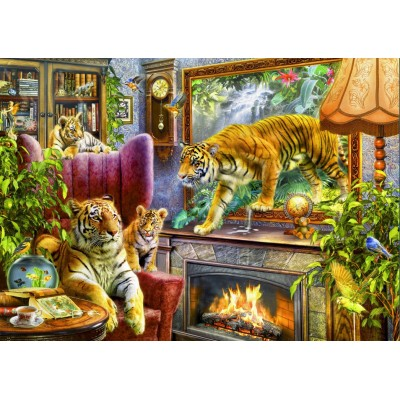 Puzzle  Bluebird-Puzzle-70171 Tigers Coming to Life