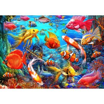 Puzzle Bluebird-Puzzle-70192 Tropical Fish
