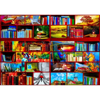 Puzzle Bluebird-Puzzle-70212 The Library The Travel Section