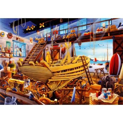 Puzzle Bluebird-Puzzle-70316-P Boat Yard