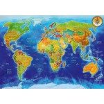 Puzzle  Bluebird-Puzzle-70337-P World Geo-Political Map