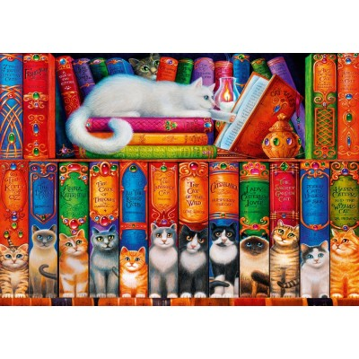 Puzzle Bluebird-Puzzle-70344-P Cat Bookshelf