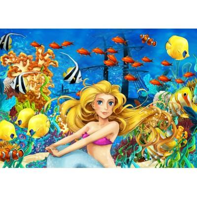Puzzle Bluebird-Puzzle-70347 Mermaid