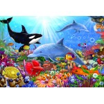 Puzzle  Bluebird-Puzzle-70384 Bright Undersea World