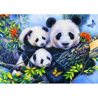 Puzzle  Bluebird-Puzzle-70395 Panda Family