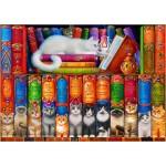 Puzzle  Bluebird-Puzzle-70396 Cat Bookshelf