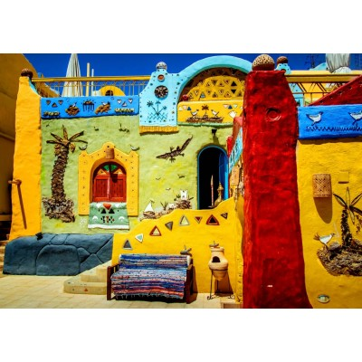 Puzzle  Bluebird-Puzzle-70435 Colorful African Village