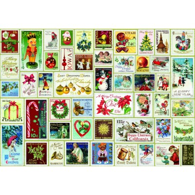 Puzzle  Bluebird-Puzzle-70488 Christmas Stamps