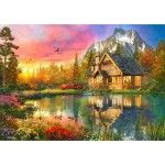 Puzzle  Bluebird-Puzzle-70505-P The Mountain Cabin