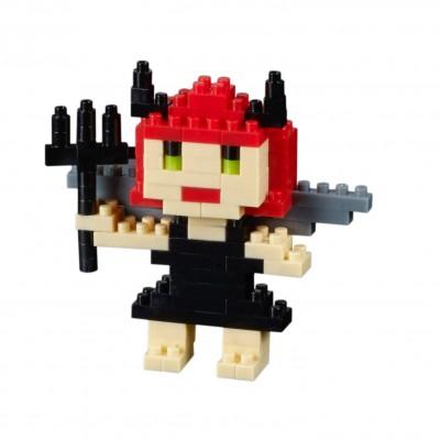 Brixies-38449019 3D Nano Puzzle - Postkarte Devil