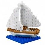 Brixies-38449020 3D Nano Puzzle - Postkarte Segelboot