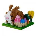 Brixies-38449021 3D Nano Puzzle - Postkarte Happy Ostern