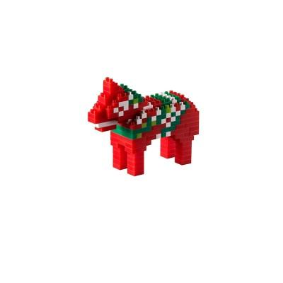 Brixies-38449040 3D Nano Puzzle - Dala Pferd
