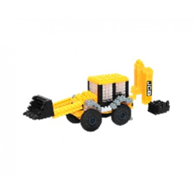 Brixies-38449145 3D Nano Puzzle - JCB Baggerlader