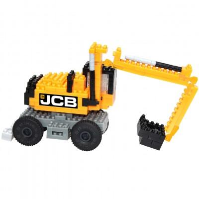 Brixies-38449146 3D Nano Puzzle - JCB Bagger