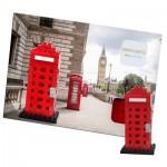 Brixies-38449200 3D Nano Puzzle - Postkarte Telefonzelle