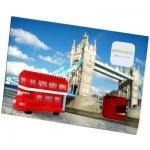 Brixies-38449201 3D Nano Puzzle - Postkarte Roter Doppeldeckerbus