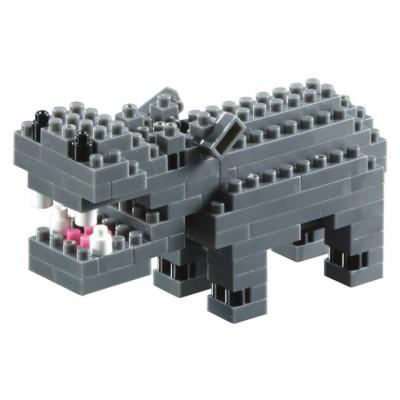 Brixies-57833 Nano 3D Puzzle - Nilpferd