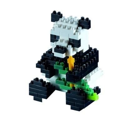 Brixies-57841 Nano Puzzle 3D - Panda Bär