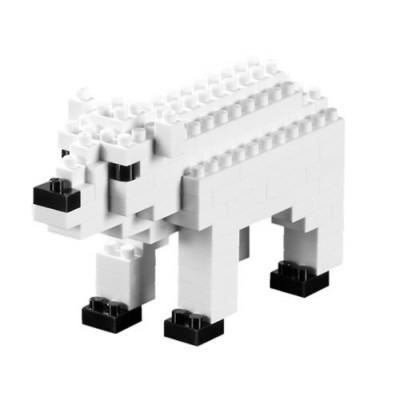 Brixies-57920 3D Nano Puzzle - Eisbär