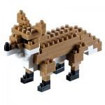 Brixies-58112 3D Nano Puzzle - Fuchs