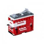 Brixies-58119 Nano 3D Puzzle - Tram (Level 3)
