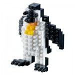 Brixies-58174 Nano Puzzle 3D - Pinguin (Level 1)